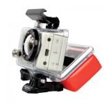 Flytbakstycke = kameran flyter om den hamnar i vattnet.